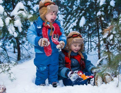 In inverno fate giocare i bimbi all'aperto!