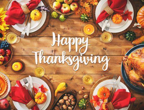 Il giorno del Ringraziamento a tavola!